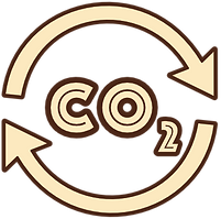 carbon neutral cycle symbol