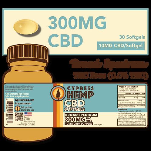 Broad Spectrum 300mg CBD Softgels