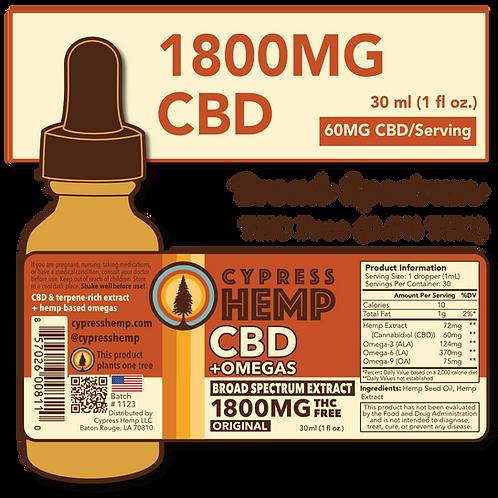 Broad Spectrum 1800mg CBD+OMEGAS™ Drops