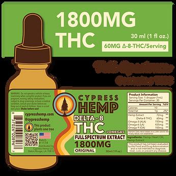 1800mg Delta 8 THC + Omegas Cypress Hem