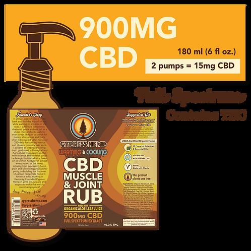 Full Spectrum 900mg CBD Muscle & Joint Rub
