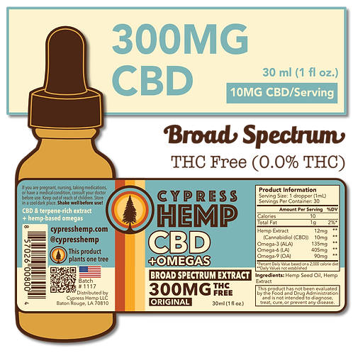 Broad Spectrum 300mg CBD+OMEGAS™ Drops