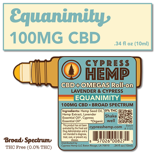 CBD+OMEGAS™ Roll-on with Organic Lavender and Cypress