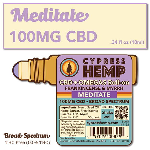 CBD+OMEGAS™ Roll-on with Organic Frankincense and Myrrh