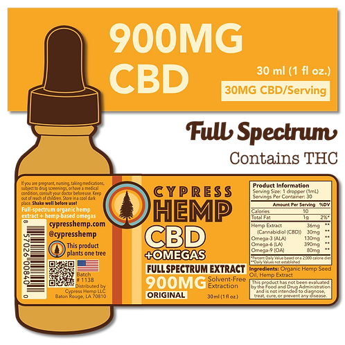 Full Spectrum 900mg CBD+OMEGAS™
