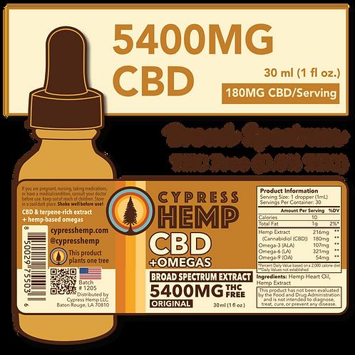 Broad Spectrum 5400mg CBD+OMEGAS™ Drops