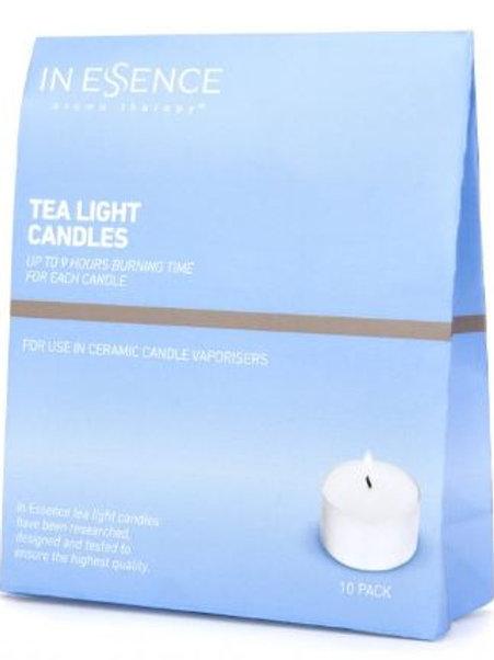 In Essence Vaporiser Tea Light Candles (Pack of 10)