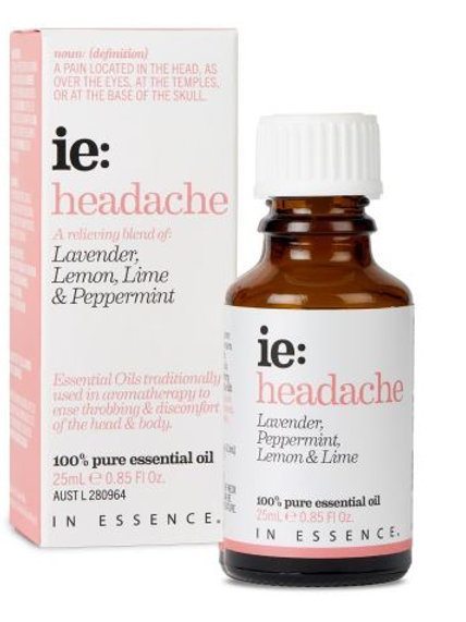 In Essence Headache Pure Essential Oil Blend 25ml