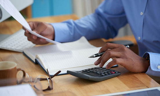 side-view-cropped-man-working-financial-
