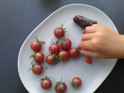 Tomate, fraises et poivrons chocolat
