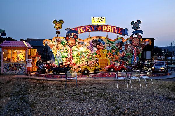 Micky'sdrive.jpg oeuvre artistique couleur numérique Luna Park ventes tirages d'art audacieuse galerie genève suisse danièle verjus toulouse france
