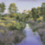 River painting, soft pastel, evenin light, Australian Landscape