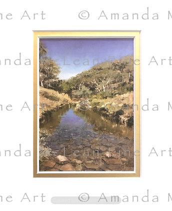 Thredbo River Small Matted Print