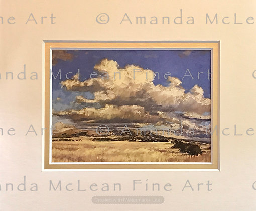 Clouds Over Hall A.C.T. Small Matted Print