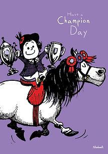 Une journée de champion sur un poney