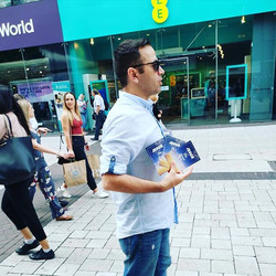 Bro Ben from Iran  sharing tracts at the