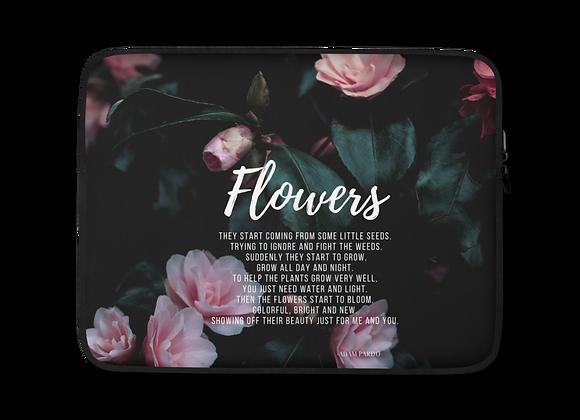 """Flowers"" Laptop Sleeve"