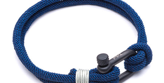Mens Blue Para Cord Bracelet