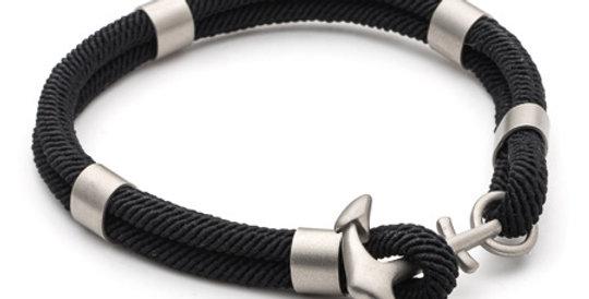 Mens Black Para Cord Bracelet