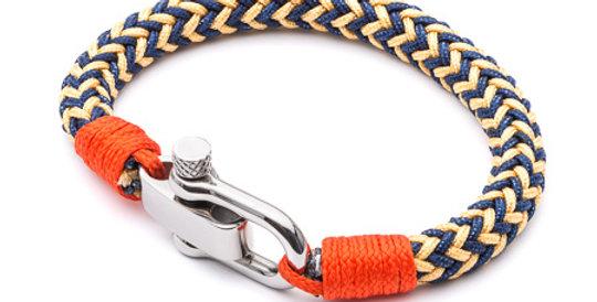 Gold and Blue Paracord Bracelet