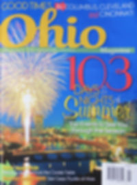 Ohio magazine cover with Artisan Rooms