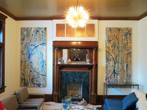 60's style abstract custom paintings