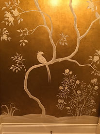 white on gold chinoiserie
