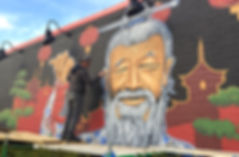 Outdoor mural for restaurant