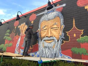 Commercial Exterior Murals Reinforce Branding.