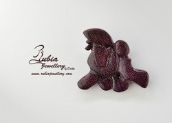 Running Poodle brooche