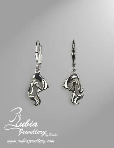 A.N. Bedlington Terrier head earring