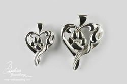 A.N. Paw print in the heart