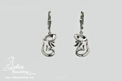 Poodle head earrings v2