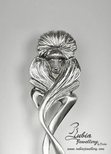 Head of the Art Nouveau Poodle spoon