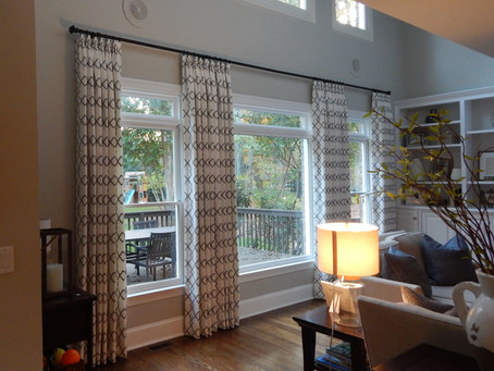 Elegant Yet Simple Drapery Panels and Roman Shades