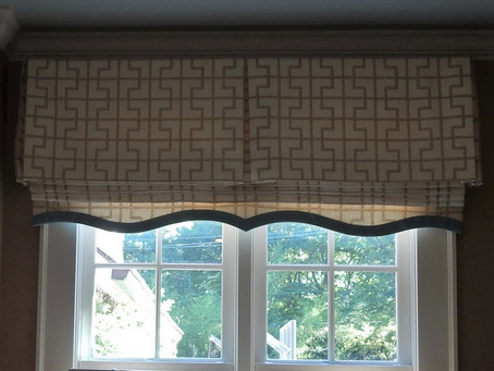 Shaped Banding on a Faux Roman Shade