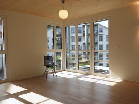 Neubau, Holzelementbau, Einfamilienhaus, Architektur, Innenarchitektur, Farb/Materialkonzept