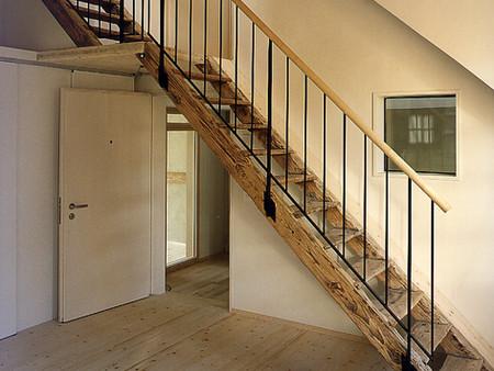 Denkmalgeschützter Umbau, zu Mietwohnungen, Architektur, Innenarchitektur, Farb/Materialkonzept