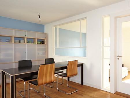 Umbau, Küche,Wohnzimmer, Innenarchitektur/Möbeldesign, Farb/Materialkonzept