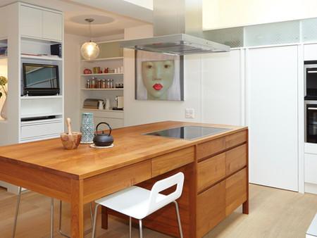 Umbau, Küche/Wohnen, Architektur, Innenarchitektur/Möbeldesign, Farb/Materialkonzept