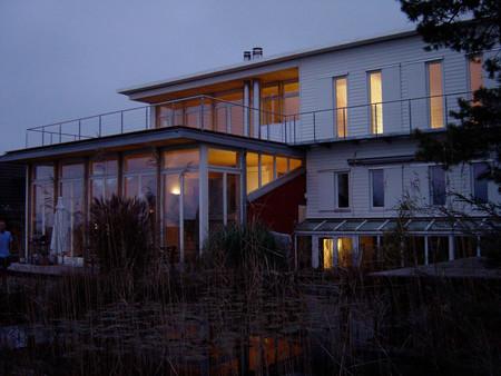 Anbau, Umbau, Holzelementbau, Einfamilienhaus, Architektur, Innenarchitektur, Farb/Materialkonzept