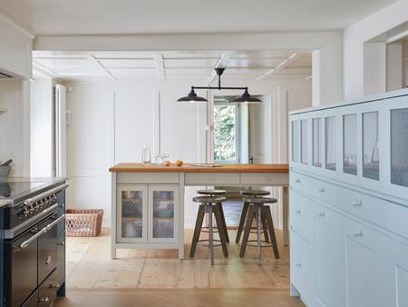 Denkmalgeschützter Umbau, Küche, Innenarchitektur/Möbeldesign, Farb/Materialkonzept