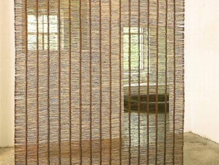 Installation,transparente Stahlfläche