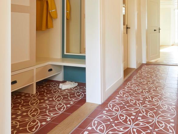 Denkmalgeschützter Umbau, Korridor, Innenarchitektur/Möbeldesign, Farb/Materialkonzept