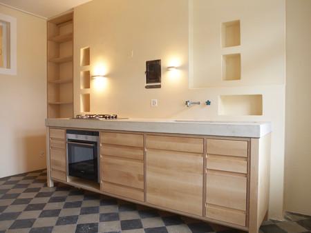 Umbau, Küche, Innenarchitektur/Möbeldesig, Material/Farbkonzept