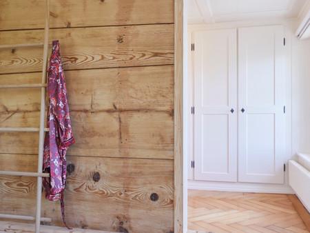Denkmalgeschützter Umbau, Durchbruch, Innenarchitektur/Möbeldesign, Farb/Materialkonzept