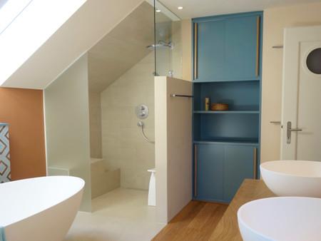 Umbau, Bad/Dusche, Architektur, Innenarchitektur/Möbeldesign, Farb/Materialkonzept