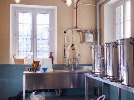 Denkmalgeschützter Umbau, Brauerei, Farb/Materialkonzept