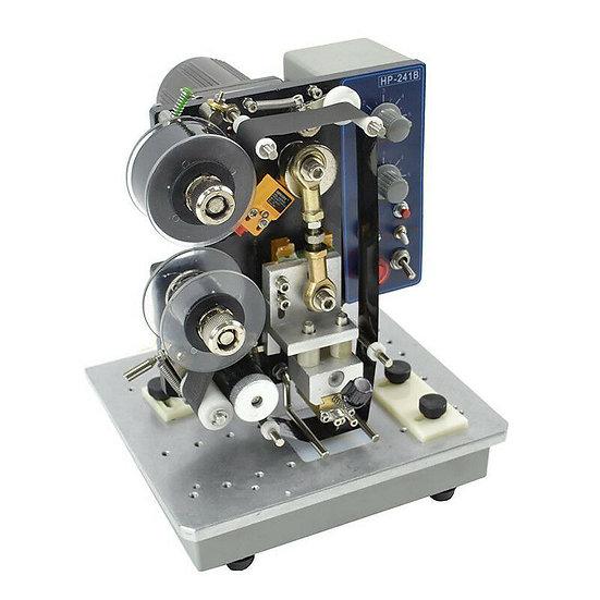 Semi-automatic Ribbon Code Printer Machine