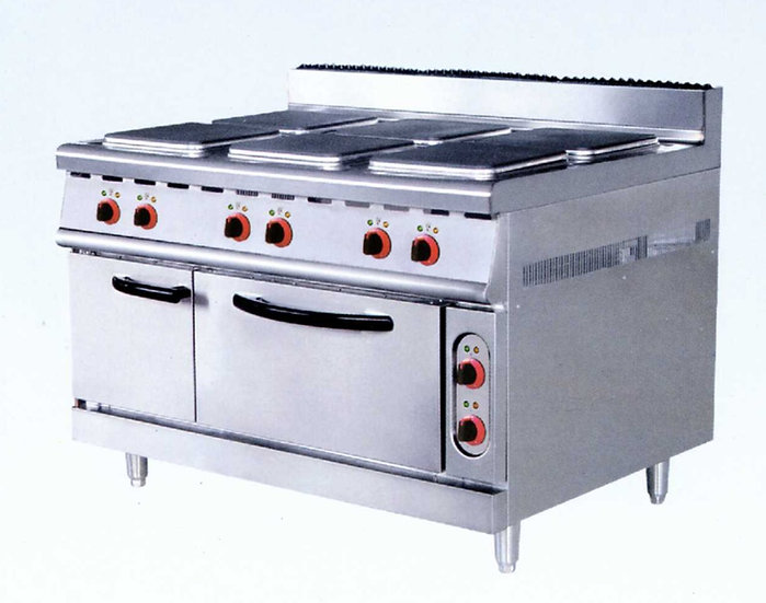 Six Hot Plate Cookers & Oven (Electric)